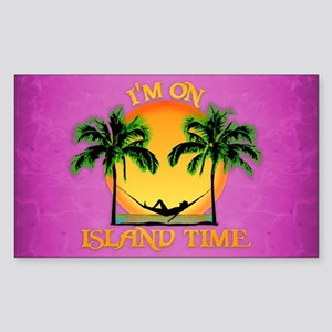 Pink Island Time Sticker
