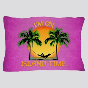 Pink Island Time Pillow Case