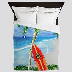 Beach Christmas Queen Duvet