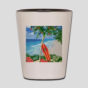 Beach Christmas Shot Glass