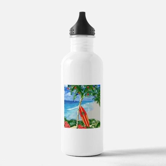 Beach Christmas Water Bottle