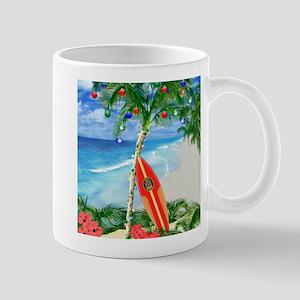 Beach Christmas Mugs