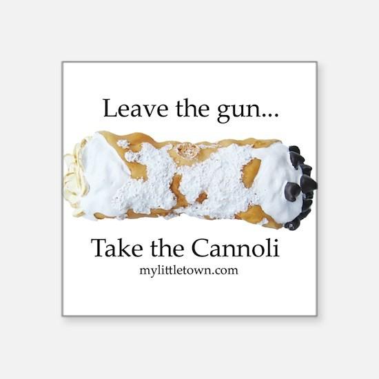 "Cute Cannoli Square Sticker 3"" x 3"""