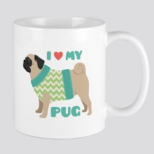 Love My Pug Mugs