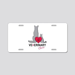 Veterinary Clinic Aluminum License Plate