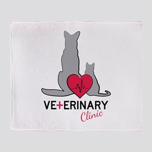 Veterinary Clinic Throw Blanket