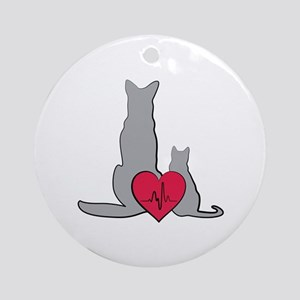 Veterinary Animals Round Ornament