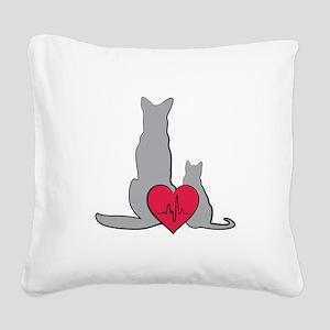 Veterinary Animals Square Canvas Pillow