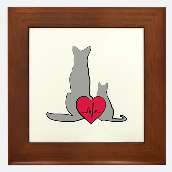 Veterinary Animals Framed Tile
