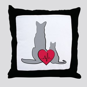 Veterinary Animals Throw Pillow