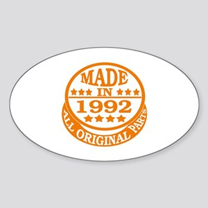 Made in 1992, All original parts Sticker (Oval)