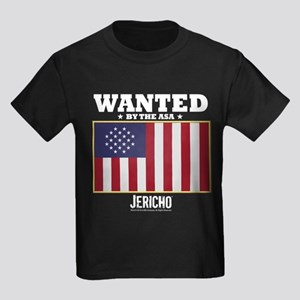 Jericho: Wanted By The A.S.A. Kids Dark T-Shirt