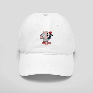 Personalized Black Widow Age 4 Cap