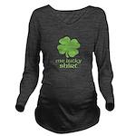 Me Lucky Shirt Long Sleeve Maternity T-Shirt