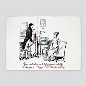 Ardently St. Valentine's Day 5'x7'Area Rug