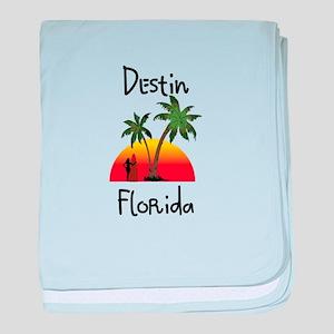Destin Florida baby blanket