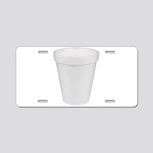 Turn Up Cup Aluminum License Plate