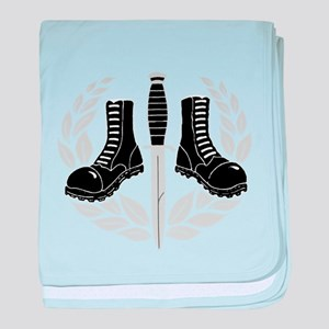 Skinhead Aggro (Silver) baby blanket