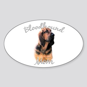 Bloodhound Mom2 Oval Sticker