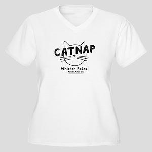 Catnap. Whisker Patrol Plus Size T-Shirt