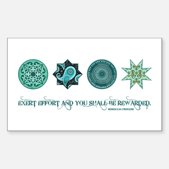 MOROCCAN PROVERB Sticker (Rectangle)