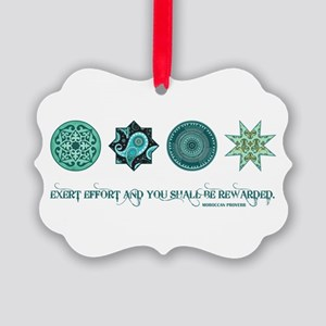 MOROCCAN PROVERB Picture Ornament