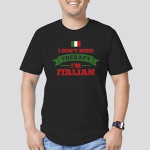No Therapy I'm Italian Men's Fitted T-Shirt (dark)