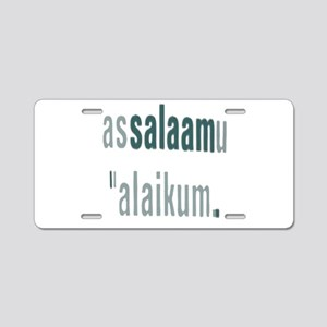 Assalamualaikum Aluminum License Plate