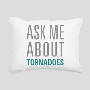 Tornadoes Rectangular Canvas Pillow