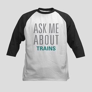 Ask Me About Trains Baseball Jersey