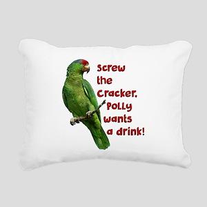 Smart Parrot Rectangular Canvas Pillow