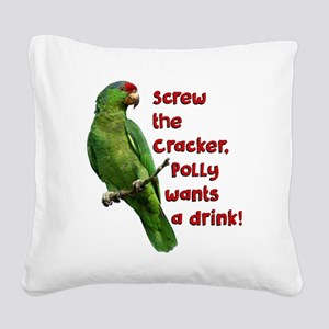 Smart Parrot Square Canvas Pillow