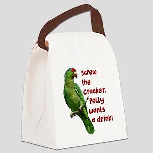 Smart Parrot Canvas Lunch Bag