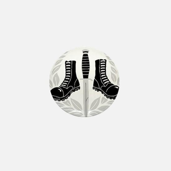 Skinhead Aggro (Silver) Mini Button