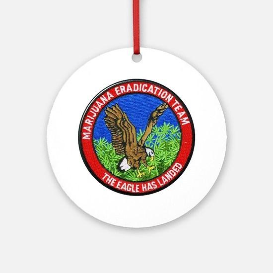 Marijuana Eradication Team Round Ornament