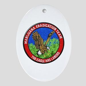 Marijuana Eradication Team Oval Ornament