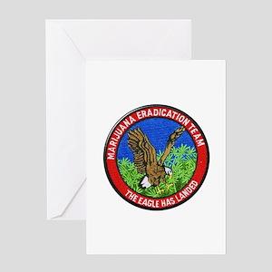 Marijuana Eradication Team Greeting Cards