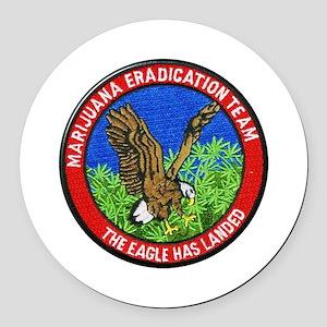 Marijuana Eradication Team Round Car Magnet