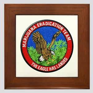 Marijuana Eradication Team Framed Tile