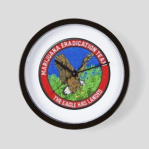 Marijuana Eradication Team Wall Clock