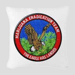 Marijuana Eradication Team Woven Throw Pillow
