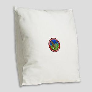 Marijuana Eradication Team Burlap Throw Pillow