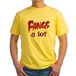 Fangs A Lot Halloween Costume Yellow T-Shirt