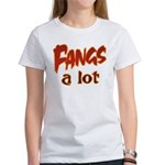 Fangs A Lot Halloween Costume Women's T-Shirt