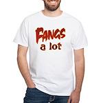 Fangs A Lot Halloween Costume White T-Shirt