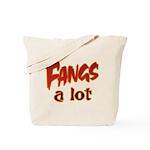 Fangs A Lot Halloween Costume Tote Bag