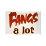 Fangs A Lot Halloween Costume Rectangle Magnet (10