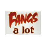Fangs A Lot Halloween Costume Rectangle Magnet