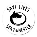 Pets Alive Round Car Magnet