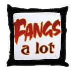 Fangs A Lot Halloween Costume Throw Pillow